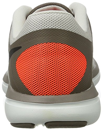 Nike Mens Flex 2016 RN Running Shoe Light Bone/Dark Mushroom/Hyper Orange/Black 8.5 D(M) US by NIKE (Image #2)