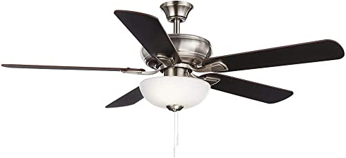 Hampton Bay Rothley II 52 in. Brushed Nickel LED Ceiling Fan