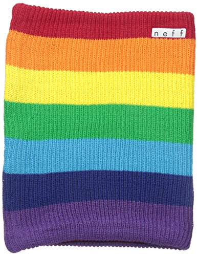 Neff Rainbow Beanie - neff Men's Daily Stripe Gaiter, Rainbow, One Size