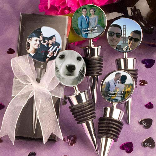 Personalized Photo Collection Wine Bottle Stopper Favors, 96