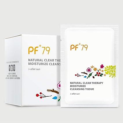 PF79 eliminación de ojos de maquillaje portátil toallitas limpiadoras sin aceite natural claro terapia hidratante tejido