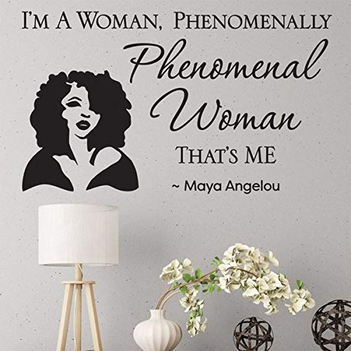 African American Expressions - Maya Angelou Phenomenal Woman Peel and Stick Wall Art Decal ()