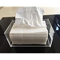 DishyKooker Napkin Organizer Acrylic Rectangle Transparent Tissue Holder for Hotel Home Comfort