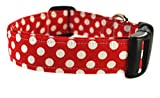 Red and White Polka Dot Dog Collar - The Minnie