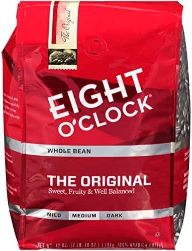 Eight O'Clock Whole Bean Coffee, The Original, 42 Ounce (Packaging May Vary)