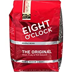 Image of the product Eight OClock Whole Bean  that is listed on the catalogue brand of Eight O'Clock Coffee. With an score of 4.0.