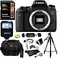 Canon EOS Rebel T6s Digital SLR Body + Lexar Professional 633x 32GB SDHC UHS-I/U1 + Polaroid Deluxe Accessory Kit + Polaroid 57