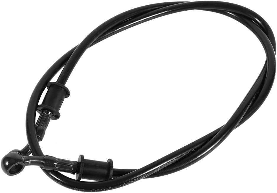 Coupling Hose Hydraulically Reinforced Motorcycle Steel Brake Clutch Oil Hoses for Motocross Enduro Line Pipe 500mm-Black