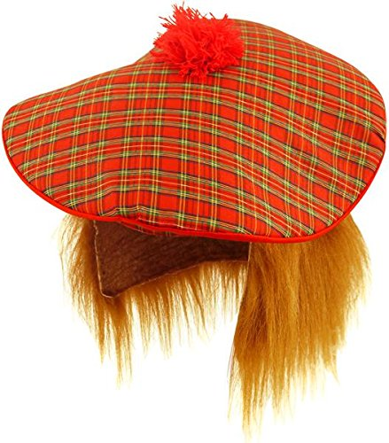 Scottish Hat - Tam O Shanter with Hair by Henbrandt -