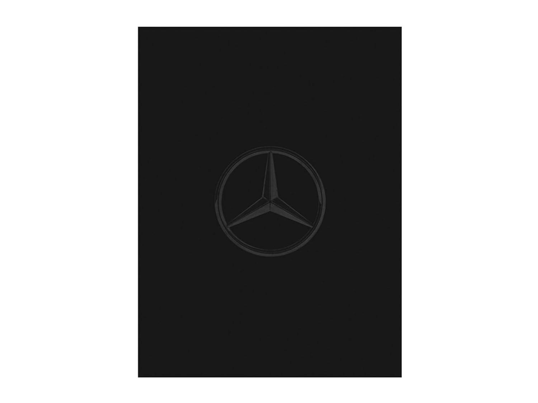 Mercedes-Benz, Wende-Fleecedecke schwarz anthrazit, 100% Polyester, weich