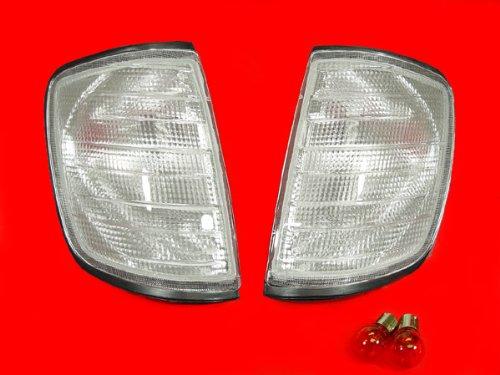 A Pair of Depo Toric Clear Lense Corner Signal Light - Mercedes-Benz E420 W124 1994-1996