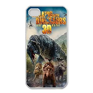 Protection Cover Cjhpw iPhone 4,4S Cell Phone Case White walking with dinosaurs movie Protection Cover