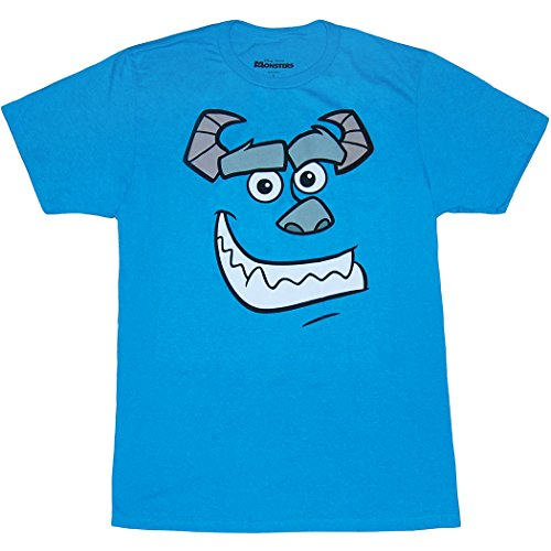 Monster's Inc. Sulley Face T-Shirt (Sulley, Heather Turquoise, X-Large) -