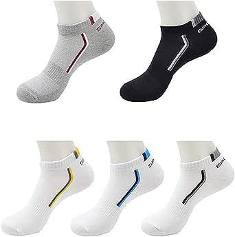REYOK 10 Pares Calcetines Deportivos, Hombre de algodón Calcetines para Deporte y Ocio, Transpirables: Amazon.es: Ropa y accesorios