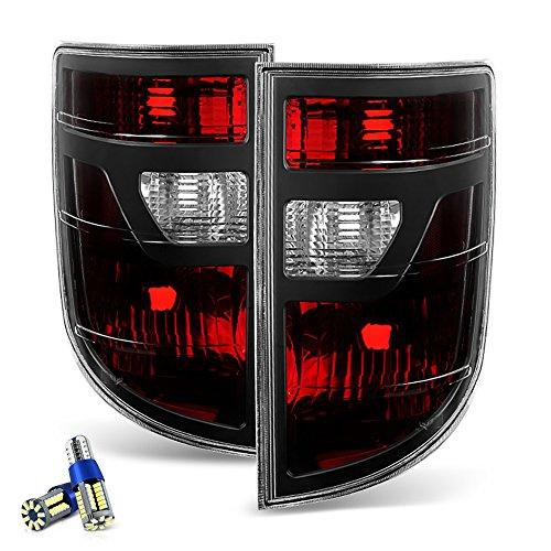 [Full SMD LED Reverse Bulbs] - VIPMotoZ 2006-2008 Honda Ridgeline Tail Lights - [Factory Style] - Rosso Red Housing, Smoke Lens, Driver and Passenger Side