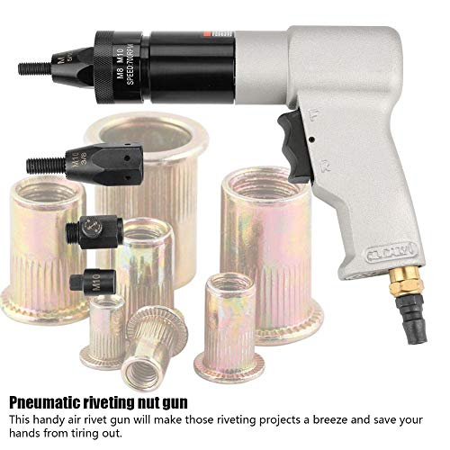 Air Riveter Gun Pull Nut Automatic Pneumatic Riveting Nut Gun Tool(M8/M10) by Wal front (Image #6)
