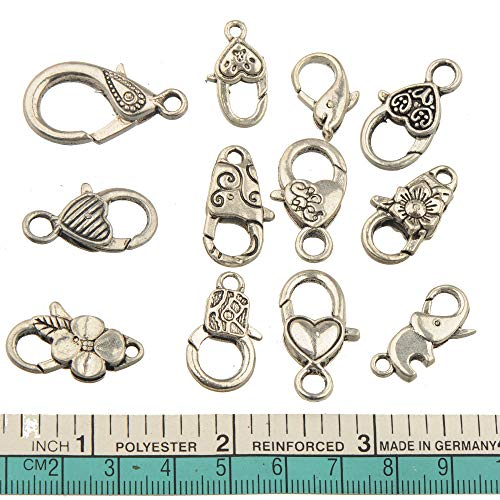 Laliva Mixed Clasps Bangles Rope Crafts Handmade Toggle Hook DIY Spring Antique Silver Metal Fashion Wholesales Jewelry Findings 12pcs