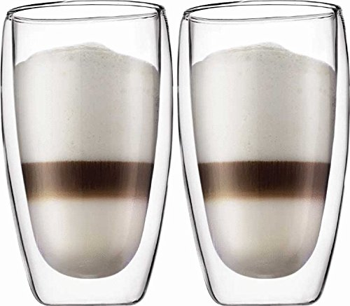 Bodum Double Wall Glass 15 Oz Dw Safe Boxed 2 Pack