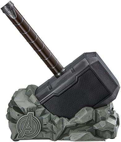 eKids Marvel Thor Hammer Wireless Bluetooth Speaker for All Smartphones and Tablets, Touch Sensitive Handle, Speaker Lights Up