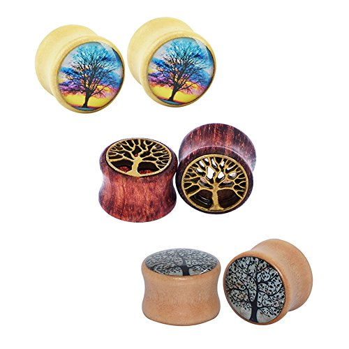 qmcandy-0g-5-8-6pcs-of-tree-of-life-wood-ear-plugs-flesh-tunnels-expanders