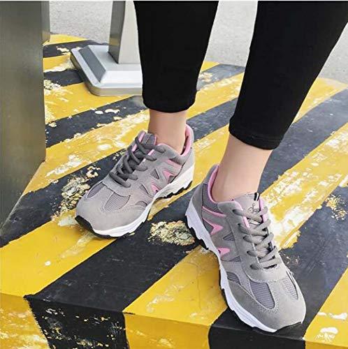 Miss Deportivos De Casual Senderismo Aire Al Gray Mujer Para Running Casuales Zapatos Libre Vuelo amp;yg Deportes Zapatillas Srvwq4FS