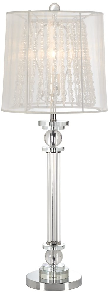 Isetta Double Shaded Glass Column Console Lamp   Table Lamps   Amazon.com