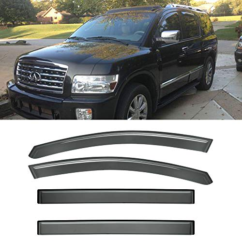 Deebior 4pcs For 2004-2014 Nissan Armada Sun Rain Guard Vent Shade Window Visors