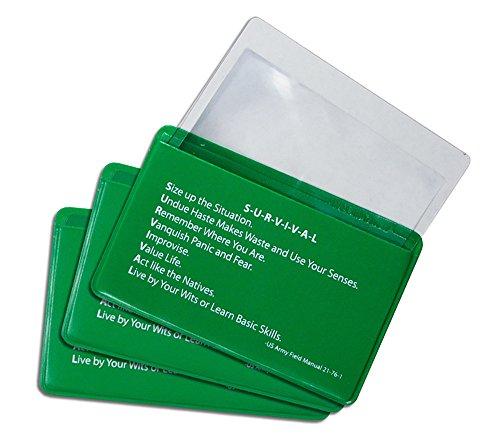 Fresnel 3 Pack Credit Pocket Magnifier