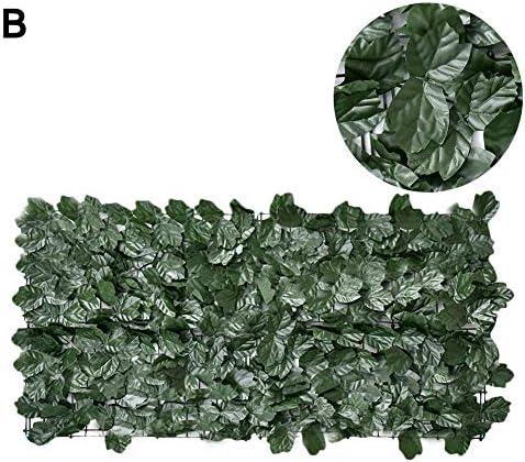 Shaying Setos Artificiales Hiedra Falsa Pantalla de Valla de privacidad Protecci/ón UV Pantalla de privacidad Valla de jard/ín para Patio Patio Trasero jard/ín 4 Tipos de Hojas