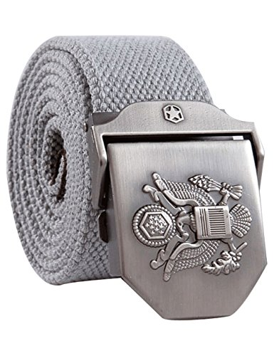 menschwear-mens-adjustable-canvas-belt-stainless-steel-buckle-military-waistband-grey
