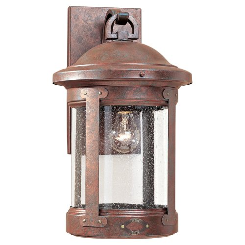 Sea Gull 8441-44 Lighting 18-Inch Weathered Outdoor Wall Light, Copper, 1-Pack