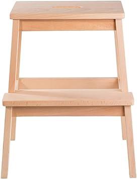 Escalera de Madera para taburetes de 2 peldaños para Adultos y niños Cocina con Escalera Interior, Banco de Zapatos portátil/Estante para Flores Escaleras de Madera Taburetes pequeños para pies: Amazon.es: Electrónica