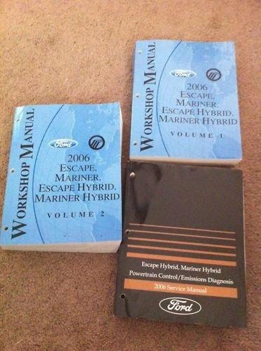 Dealer Workshop Manual (2006 Escape/Mariner/Escape Hybrid Workshop Manual)