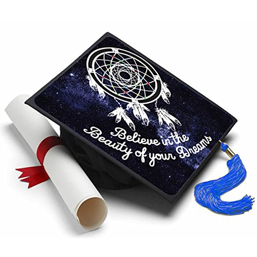 Tassel Toppers Believe in The Beauty - Graduation Cap Decorated Grad Caps -