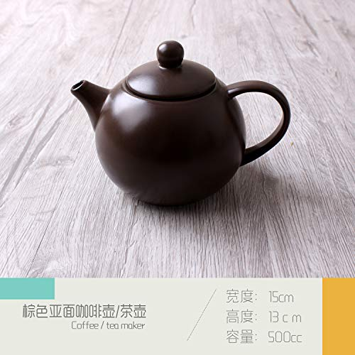 Simple Asian ceramic tableware Western dish cup pasta dish bowl teapot restaurant table tableware coffee color 15x13cm