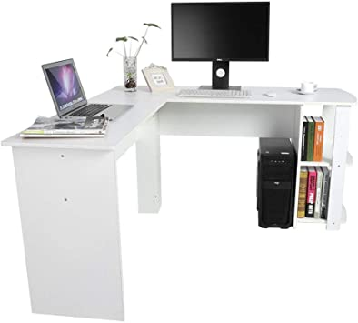 Ejoyous - Mesa de Escritorio esquinera en Forma de L, Mesa de ...