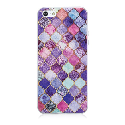 Price comparison product image Beryerbi iPhone 5/5s/SE Case Soft TPU Clear Anti-Shock Protective Cover -Christmas Gifts (6, iPhone 5/5s/SE)