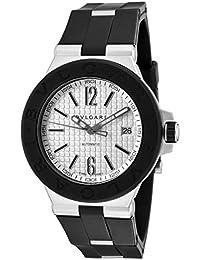 Dg40c6svd Men's Diagono Automatic Black Rubber Silver-Tone Dial Watch