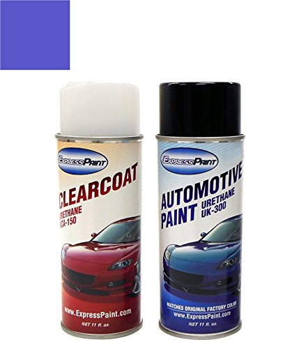 ExpressPaint Aerosol Mercury Cougar Automotive Touch-up Paint - French Blue Pri Metallic Clearcoat M9/M7043 - Basic Package -