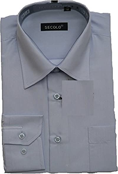 Hemd Business Hochzeits Hemd Anzug Hemd (42, Hellblau)