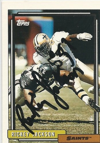 1992, Rickey Jackson, New Orleans Saints, Signed, Autographed, Topps Football Card, Card # 155, a COA Will Be ()
