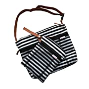 Wet Bag Premium Travel DUO PACK - Large and Small 2 Pocket Wet Dry Bags   Waterproof Dry Organiser Bag   Beach, Swimsuits, Wet Wipes, Cloth Diapers, Clothes for Potty Training, Gym, Light Change Bag