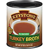 Keystone Meats All Natural Broth, Turkey, 27 Ounce (Pack of 12)