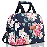 BALORAY Lunch Bag for Women with Shoulder Strap Insulated Lunch Tote Bag Perfect for Work Picnic(Dark Blue)