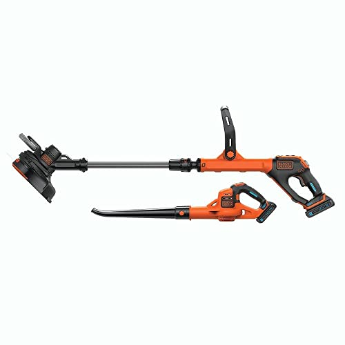 BLACK DECKER LCC520BT 20V SMARTECH Max Easy Feed String Trimmer and Power Boost Sweeper Combo Kit