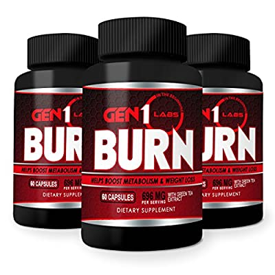 Best Thermogenic Fat Burners! Weight Loss Pills That Work for Men and Women. Increases Metabolism, Energy and Appetite Control. Lose Weight and BURN Belly Fat Fast w/ Caffeine,Chromium & Green Tea 60ct