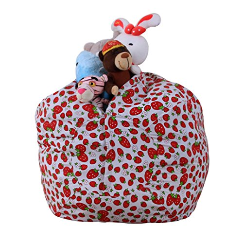 "Price comparison product image Amiley 1.4m / 55.1"" Kids Stuffed Animal Plush Toy Storage Bean Bag Soft Pouch Stripe Fabric Chair Hot Sale (E)"