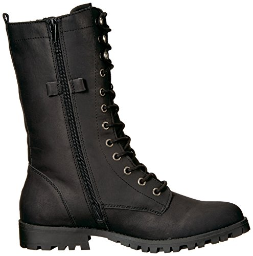 Black Women's Mid Boot Sugar up Calf Tegan Combat Lace aw8qdxg8