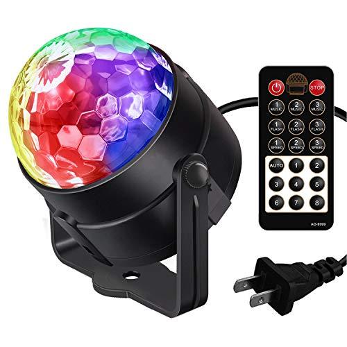 Disco Lights Karrong Sound Activated Strobe Light Disco Ball Dj Lights Party Lights Xmas 9colors Disco Light Disco Party Lights Show for Christmas Parties DJ Karaoke Wedding Outdoor with Remote