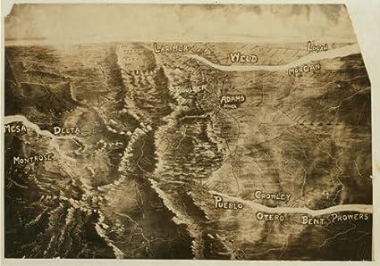 Amazon.com: HistoricalFindings Photo: Relief Map,Arkansas ...